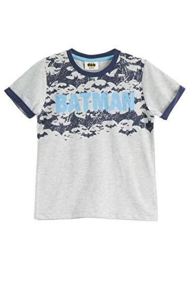 Batman Batman Lisanslı Grimelanj Erkek Çocuk T-Shirt Gri